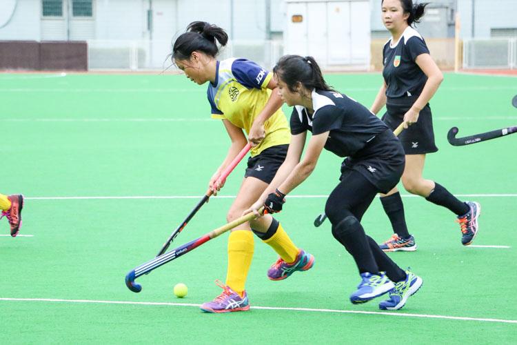 EJC blaze past RI in National Schools A Division Girls' Hockey semi-finals fixture. (Photo 8 © Clara Lau/REDintern)