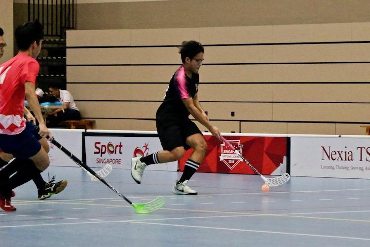 Muhammad Alfian (#13) of RI in action.