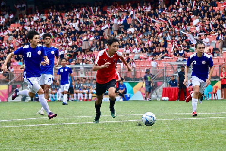 NYJC claimed third place in 5-2 win over TMJC in the A Division Football 3rd Playoff.(Photo 12 © Julianna Jothi/Red Sports)