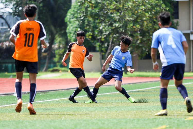 SAJC comfortably beat CJC 2-0 in the in the National Schools A Division Football Championship to book semi-finals spot. (Photo 11 © Clara Lau/REDintern)