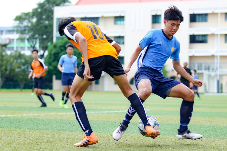 SAJC comfortably beat CJC 2-0 in the in the National Schools A Division Football Championship to book semi-finals spot. (Photo 8 © Clara Lau/REDintern)