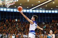 Darryl Chan (TMJC #7) rising up to score for TMJC. (Photo 24 © Clara Lau/Red Sports)