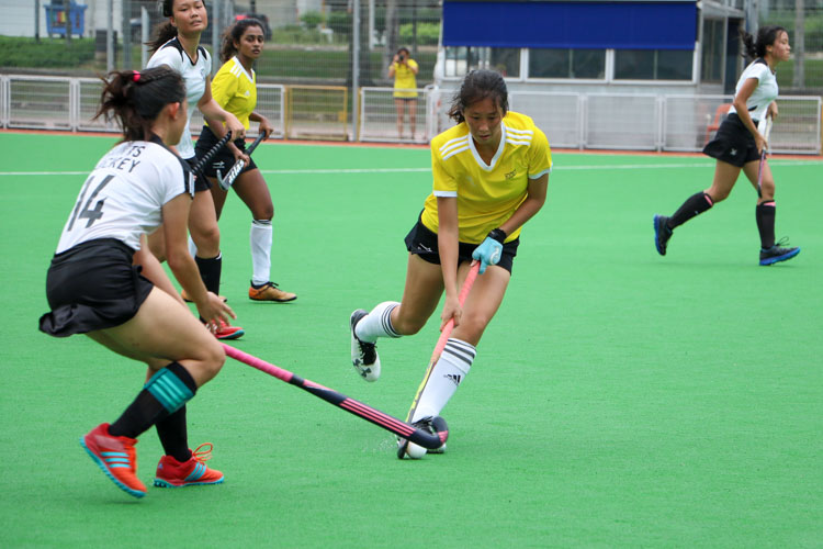 VJC secure place in 17th consecutive National Schools A Division Girls' Hockey Finals after 2-0 win over SAJC. (Photo 10 © Clara Lau/REDintern)