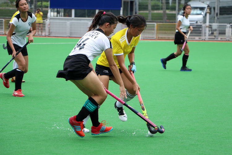 VJC secure place in 17th consecutive National Schools A Division Girls' Hockey Finals after 2-0 win over SAJC. (Photo 11 © Clara Lau/REDintern)