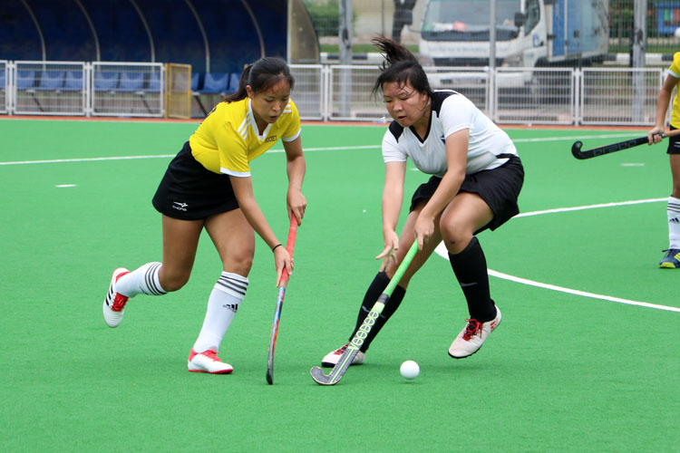 VJC secure place in 17th consecutive National Schools A Division Girls' Hockey Finals after 2-0 win over SAJC. (Photo 13 © Clara Lau/REDintern)