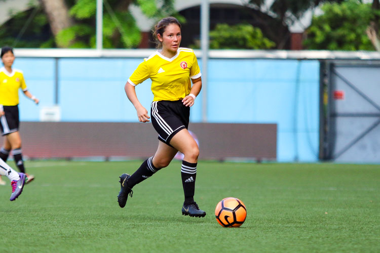 VJC wins seventh consecutive title after a convincing 3-0 victory over SAJC in the final of the National A Division Football (Girls) Championship. (Photo 10 © Clara Lau/REDintern)