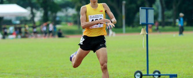 Tan Lui Hua of Wings Athletic Club (WAC) won the Men's 1500m event with a time of 4:09.15, an improvement on his personal best by 10 seconds. (Photo 1 © Clara Lau/Red Sports
