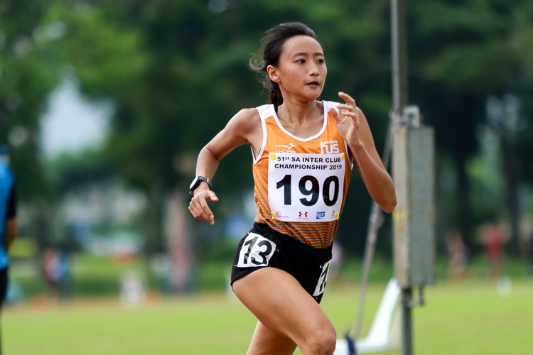 Vanessa Lee of NUS won the Women's 1500m with a time of 4:58.11. (Photo 38 © Clara Lau/Red Sports)