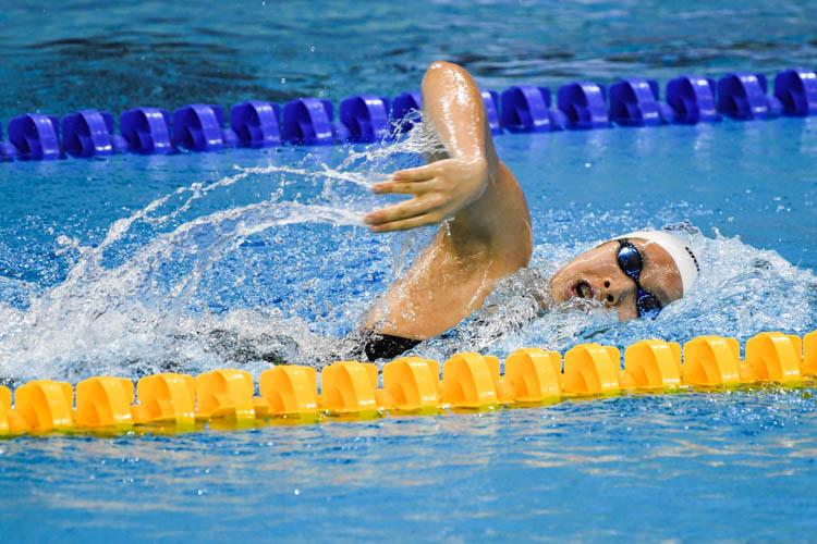 Chantal Liew came in fifth in the Women's 400m Freestyle event with a time of 4:36.13 at the 15th SNSC 2019 competitions.