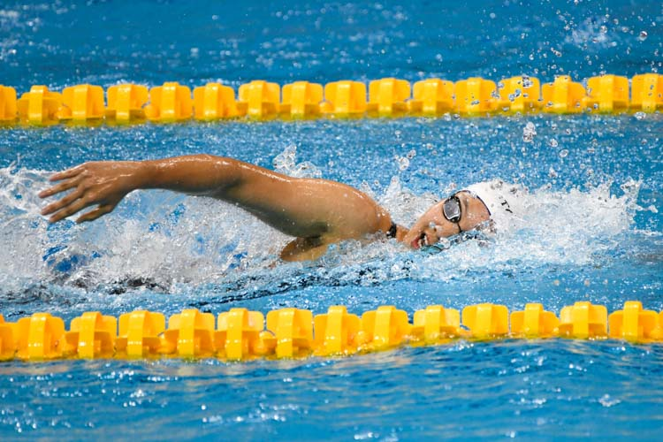 Ashley Lim clinched silver in the Women's 400m Freestyle event with a time of 4:20.91 at the 15th SNSC 2019 competitions.