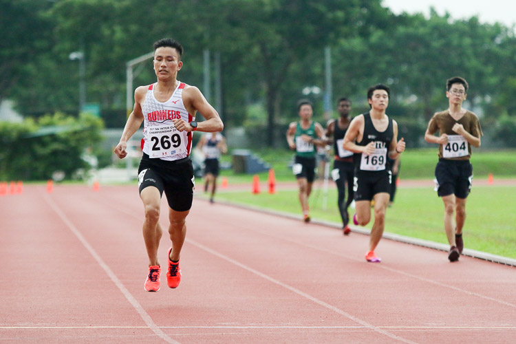 Subas Gurung of Police Sports Association (PSA) finished first in his timed final and placed third overall in the Men's 5000m with a time of 16:08.37. (Photo 50 © Clara Lau/Red Sports)