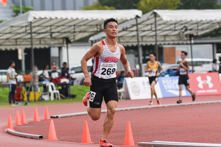 Subas Gurung of Police Sports Association (PSA) finished first in his timed final and placed third overall in the Men's 5000m with a time of 16:08.37. (Photo 1 © Iman Hashim/Red Sports)