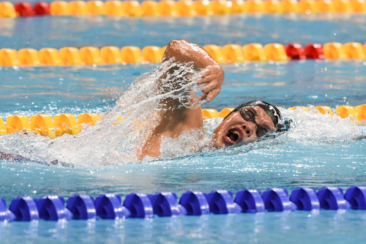 Luke Tan finished fourth in the Men's 1500m Freestyle final with a time of 16:04.70. (Photo 1 © Iman Hashim/Red Sports)