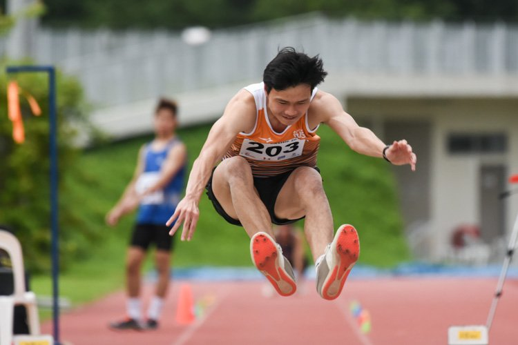 Chan Zhe Ying of NUS claimed the bronze in the Men's Triple Jump with a leap of 13.38m. (Photo 1 © Iman Hashim/Red Sports)