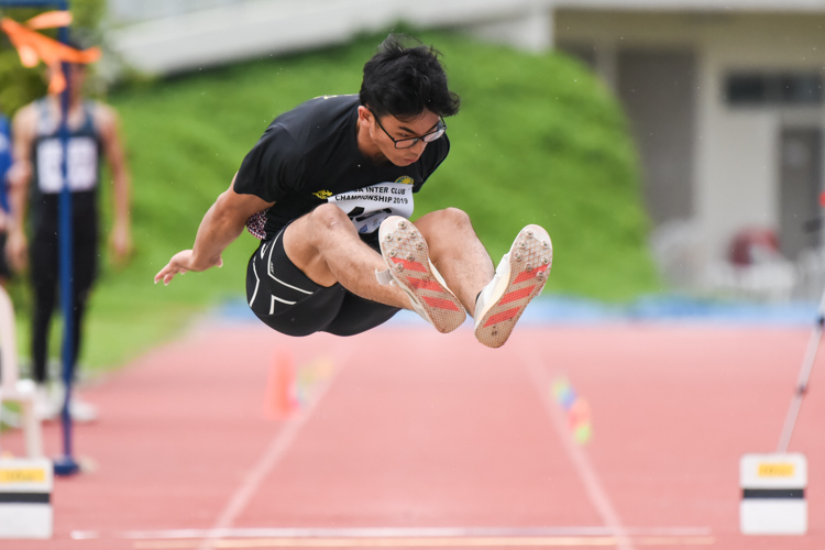 Ivan Mun of Flash Athletic Club emerged champion in the Men's Triple Jump with a leap of 14.47m. (Photo 1 © Iman Hashim/Red Sports)