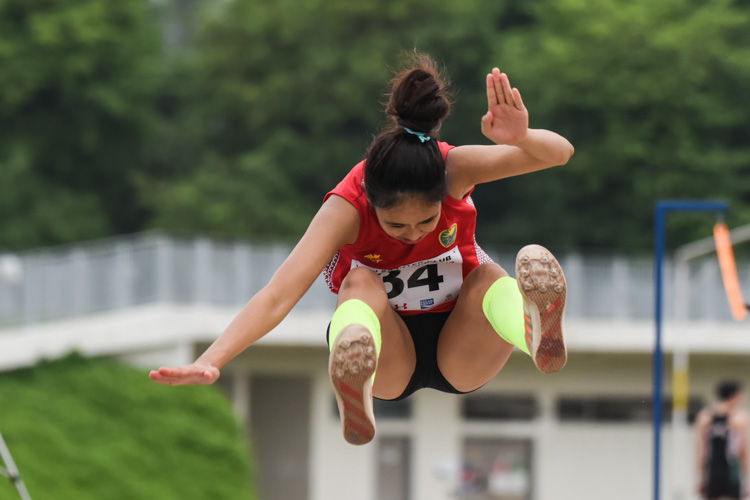 Tia Louise Rozario, who recently set a new national record of 12.26m, won gold in the Women's Triple Jump with a leap of 12.14m. (Photo 1 © Iman Hashim/Red Sports)