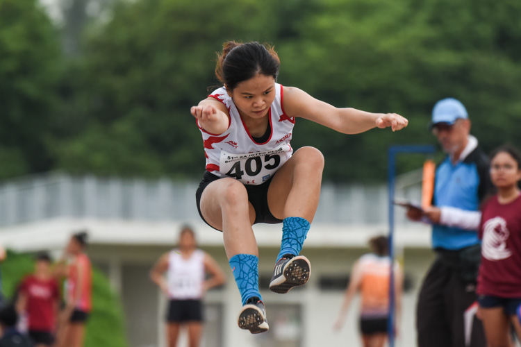 Ang Wei Lu of Swift clinched silver in the Women's Triple Jump with a leap of 11.47m. (Photo 1 © Iman Hashim/Red Sports)