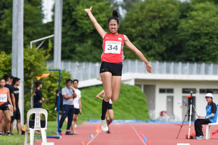 Tia Louise Rozario of Flash Athletics Club clinched gold in the Women's Long Jump with a leap of 5.40m. (Photo 1 © Iman Hashim/Red Sports)