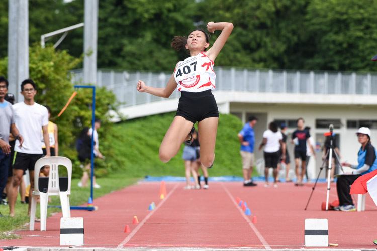 Lim En Ning of Swift Athletes Association came in second in the Women's Long Jump with a leap of 5.30m. (Photo 1 © Iman Hashim/Red Sports)
