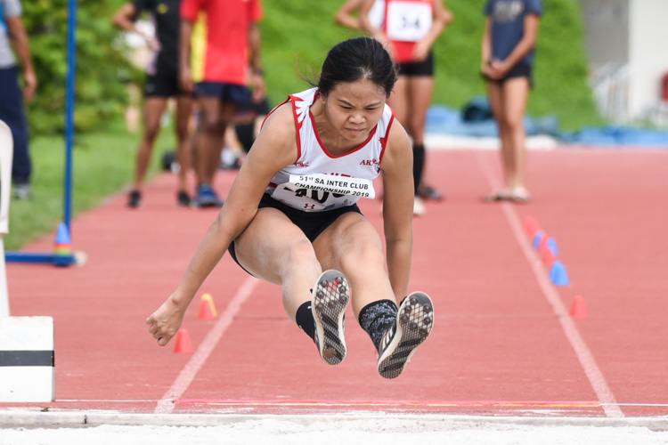 Ang Wei Lu of Swift Athletes Association placed third in the Women's Long Jump with a leap of 5.19m. (Photo 1 © Iman Hashim/Red Sports)