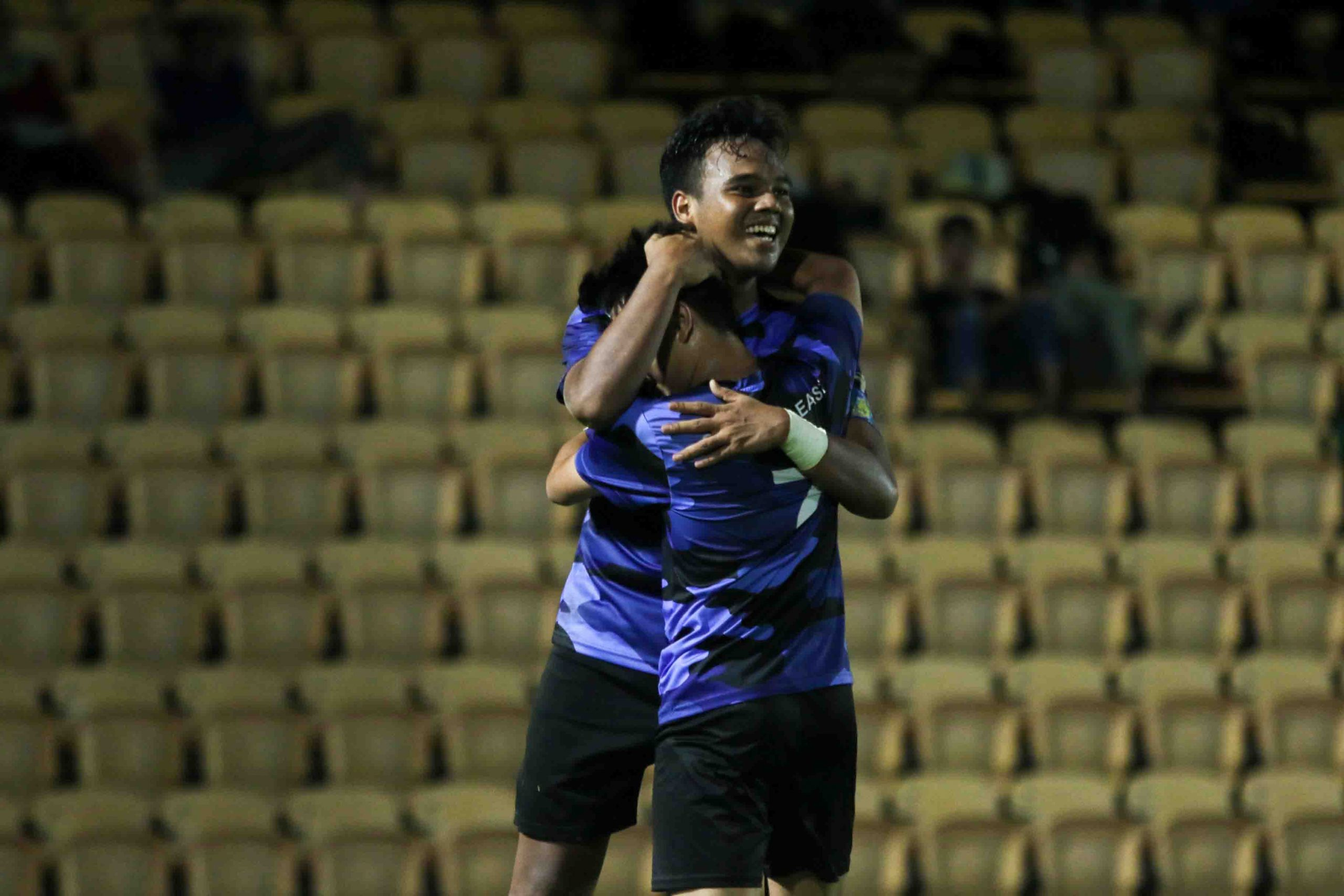 Is Hazwan B Azhar (ITE #17) celebrates scoring the opening goal of the game. (Photo 7 © Clara Lau/Red Sports)