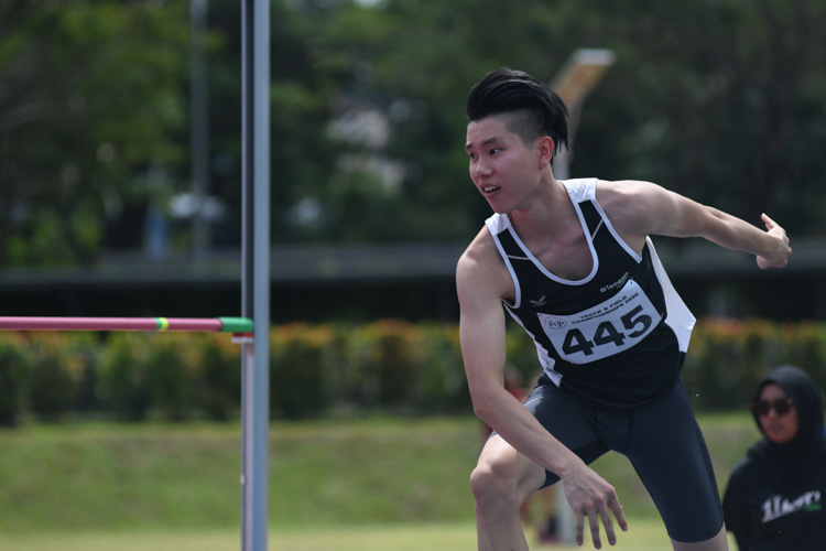 Chen Jinyi (#445, Temasek Polytechnic) finished fifth with a final jump of 1.75m. (Photo 8 © Stefanus Ian/Red Sports)