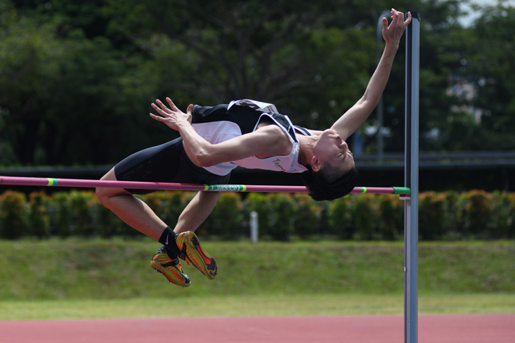 Chen Jinyi (#445, Temasek Polytechnic) finished fifth with a final jump of 1.75m. (Photo 9 © Stefanus Ian/Red Sports)