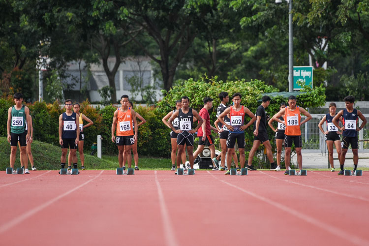 The calm before the storm in the IVP Men's 100m final. (Photo 1 © Iman Hashim/Red Sports)