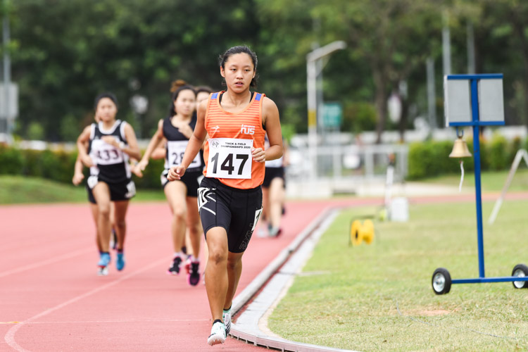 Levyn Wong (#147) of NUS claimed silver in the Women's 1500m with a time of 5:22.67. (Photo 1 © Iman Hashim/Red Sports)