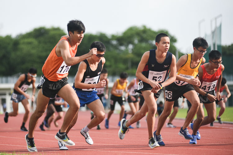 Competitors at the start of the Men's 5000m. (Photo 1 © Iman Hashim/Red Sports)