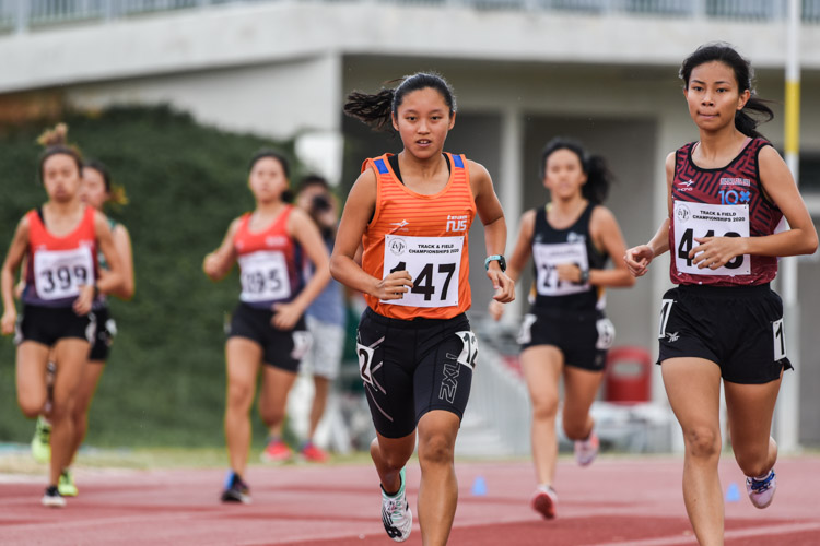 Levyn Wong (#147) of NUS won the Women's 800m race in 2:30.99, while long-time competitor Arissa Rashid (#418) of SUTD finished second in 2:33.30. (Photo 1 © Iman Hashim/Red Sports)