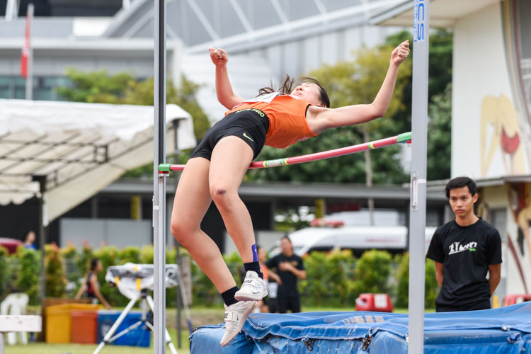 Nicole Sng of NUS took the bronze in the Women's high jump with a best clearance of 1.50m. (Photo 1 © Iman Hashim/Red Sports)