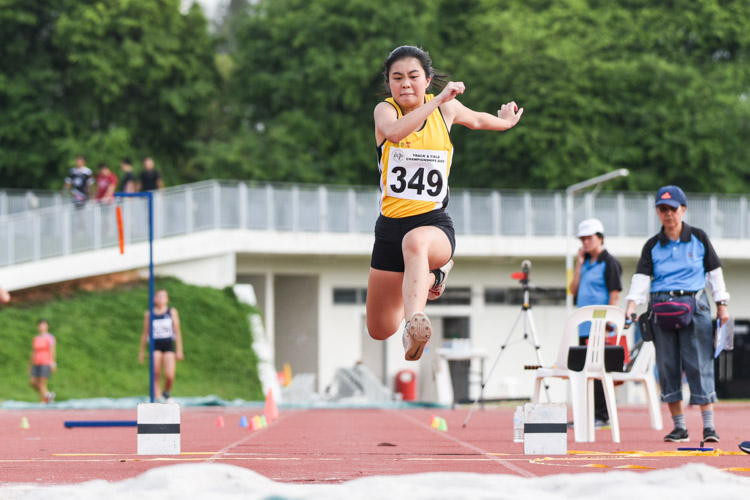 Khor Xinyi of Singapore Polytechnic took the bronze in the Women's Triple Jump with a distance of 10.65m. (Photo 1 © Iman Hashim/Red Sports)