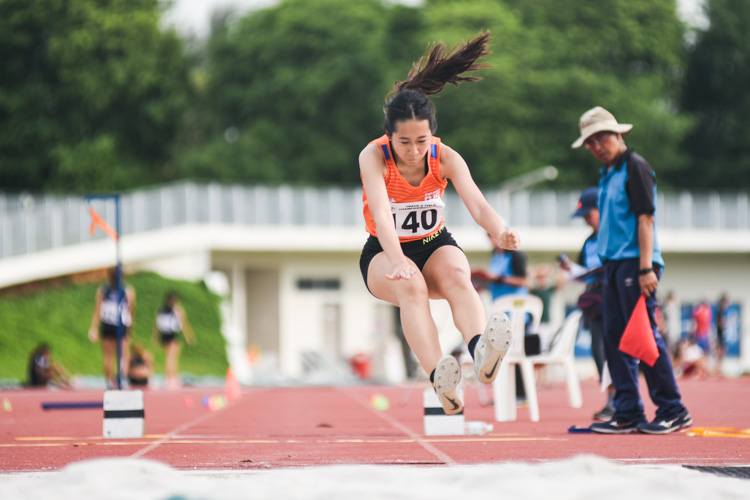 Nicole Sng of NUS came in fifth in the Women's Triple Jump with a distance of 10.00m. (Photo 1 © Iman Hashim/Red Sports)