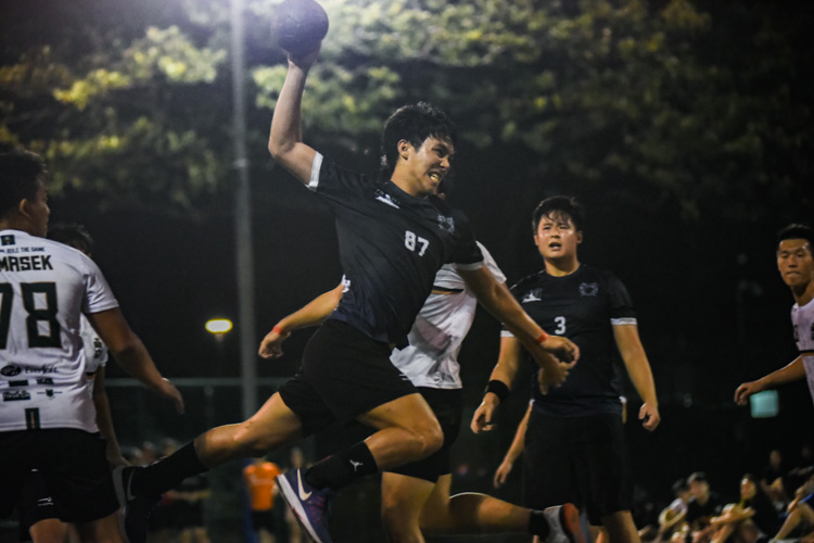 Shawn Poh (KR #87) attempts a jump shot at goal. (Photo 1 © Iman Hashim/Red Sports)