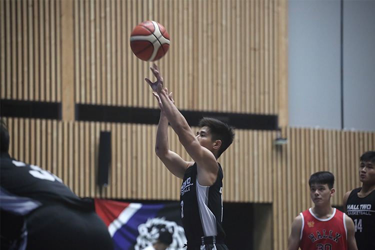 Cheng Rong Hao (Hall 2 #13) shooting the ball from the free throw line. (Photo 1 © REDintern Ashley Lu)
